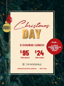 Woodville Hotel CHRISTMAS DAY 2021 Poster